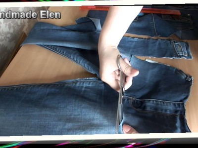 DIY tutorial  How to Sew an jeans apron  Jeans to Apron  recycle reuse jeans project idea