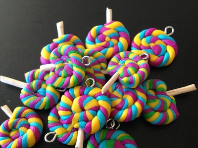 Fimo-Rainbow Lollipop Tutorial