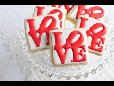 How To Decorate Love Park Cookies, Royal Icing Transfers