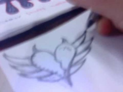 How to Draw a Emo Heart (: