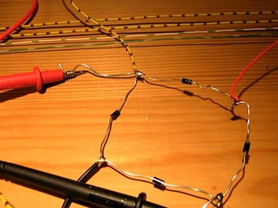 How to make a bridge (full wave) rectifier with 4 diodes