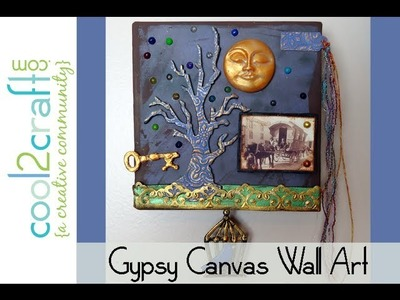 How to Make a Gypsy Tree Art Canvas by Candace Jedrowicz