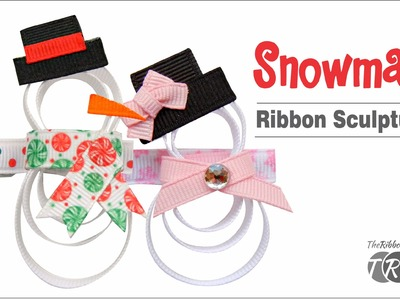How to Make a Snowman Ribbon Sculpture - TheRibbonRetreat.com