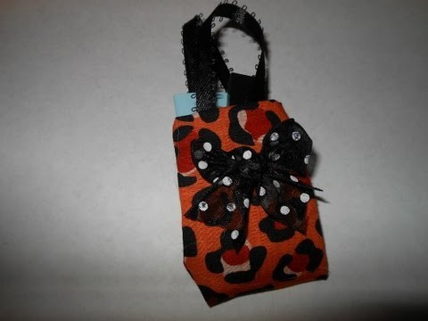 How to make doll handbag or purse doll fashion