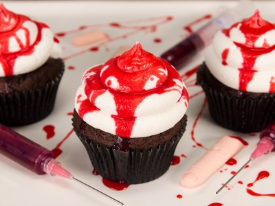 How to Make Edible Fake Blood & Bloody Halloween Cupcakes from Cookies Cupcakes and Cardio