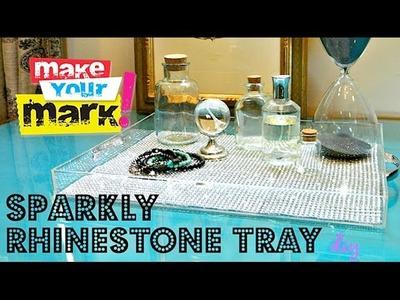 How to: Sparkly Rhinestone Tray DIY