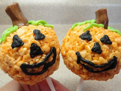 Jack-O'-Lantern Rice Krispies Pops