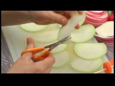 Making Edible Vegetable Arrangements : Edible Vegetable Arrangement: Making Kohlrabi Petals