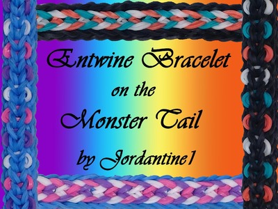 New Entwine Bracelet - Reversible- Monster Tail - Rainbow Loom