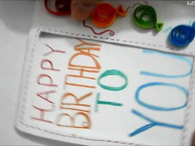 Quilled B-day Balloons card