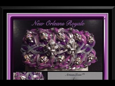 Rainbow Loom Band New Orleans Royale Bracelet Tutorial.How To
