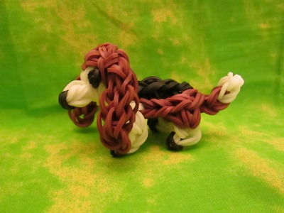 Rainbow Loom Basset Hound Dog or Puppy Charm. 3-D