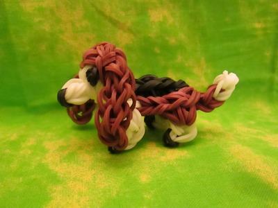 Rainbow Loom Basset Hound Dog or Puppy Charm. 3-D