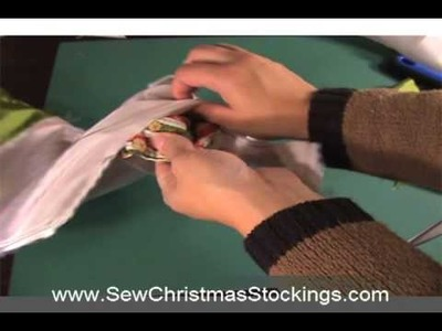 Sew Christmas Stocking - Day 12 - Sew on Lining