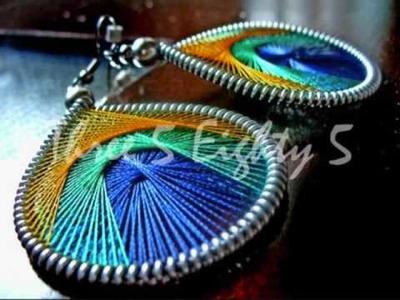 Thread Earrings - http:.www.threefiveeightyfive.etsy.com