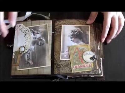 Tim Holtz vintage junk journal