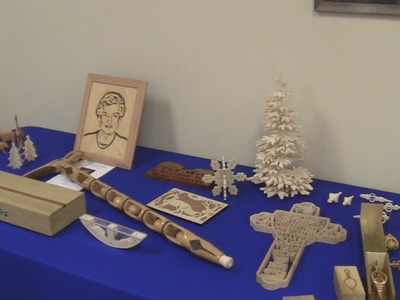 2014-07-07 Christmas in July Scroll Saw Show and Tell