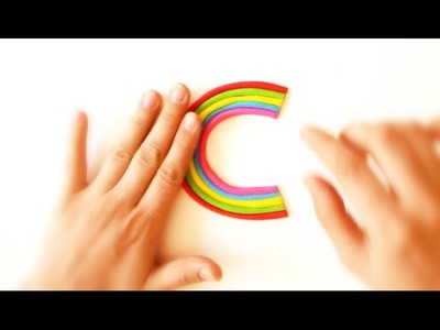 C - Rainbow Alphabet with Play-Doh - ABC - Easy Idea Channel