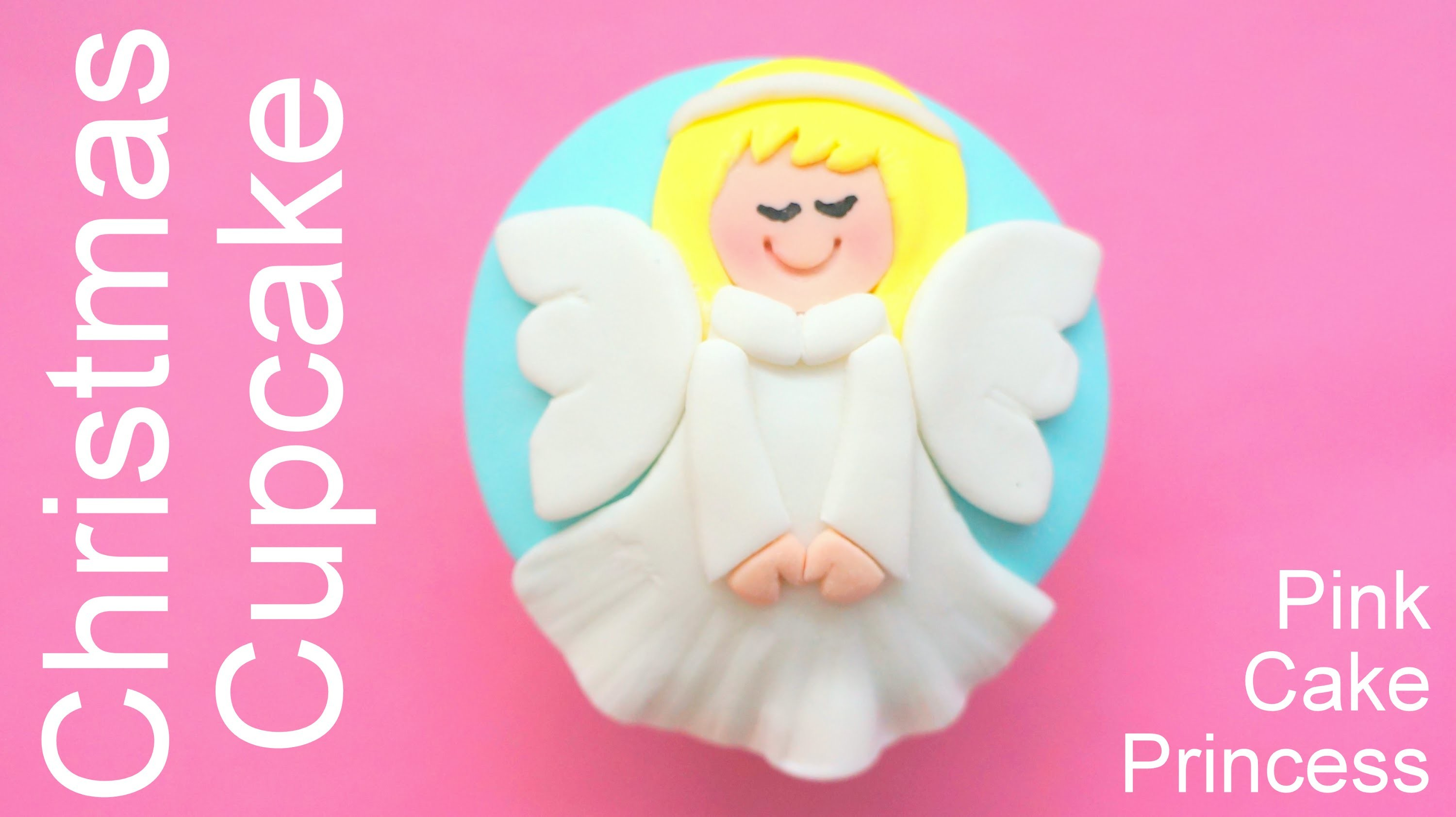Christmas Cupcakes - How to Make an Angel Cupcake by Pink Cake Princess