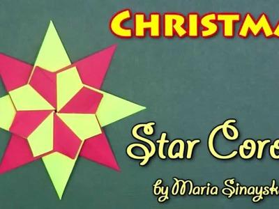 Christmas Origami Star Corona by Maria Sinayskaya - Yakomoga Origami tutorial