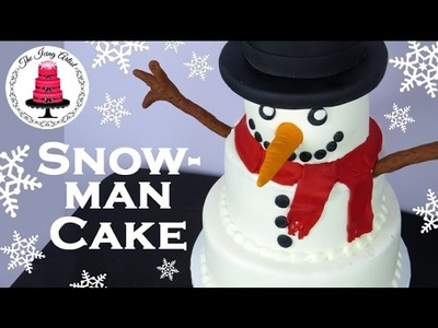 Christmas Snowman Cake - How To With The Icing Artist