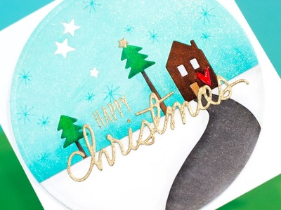 Colored Die Cut Inlay - Christmas Card
