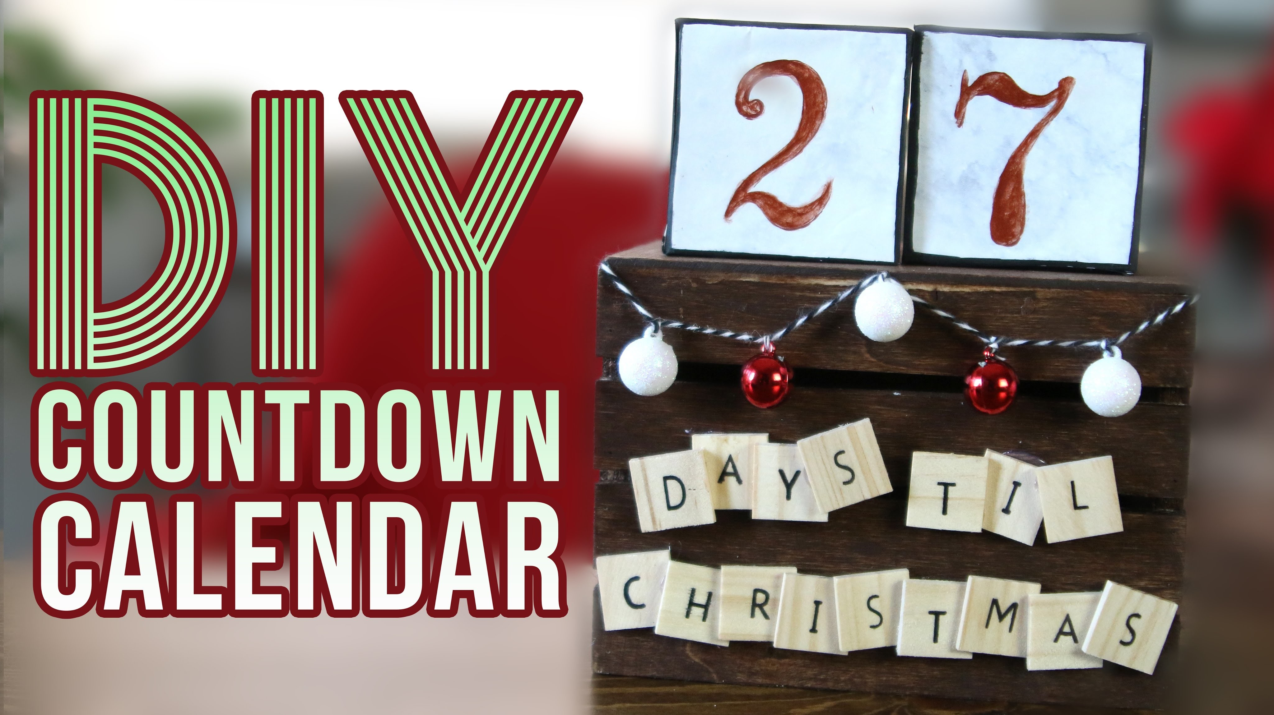 DIY Christmas Countdown Calendar