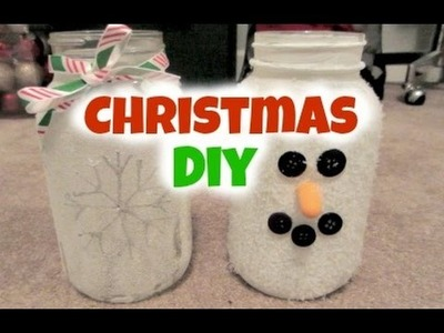 DIY Christmas Mason Jar Candle Holders