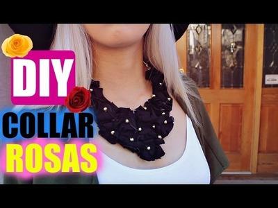 DIY collar rosas con tela
