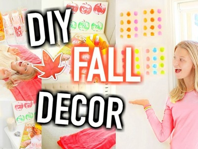 DIY Fall Room Decor! Easy ways to make your Room Cozy! Tumblr Inspired!