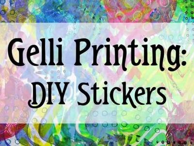 DIY Gelli Printed Stickers !!
