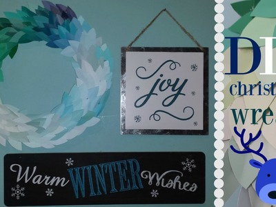 DIY Paint Swatch Christmas wreath | Hopexproductions