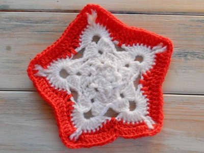 How to Crochet my Snowflake Granny Pentagon