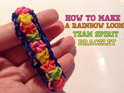 How to Make a Rainbow Loom Team Spirit Bracelet