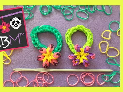 NEW Rainbow Loom Band Flower Bracelet Made Using Just a Hook Tutorial | How to