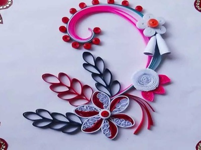 Paper Quilling: How to make Beautiful greeting card for christmas 2015