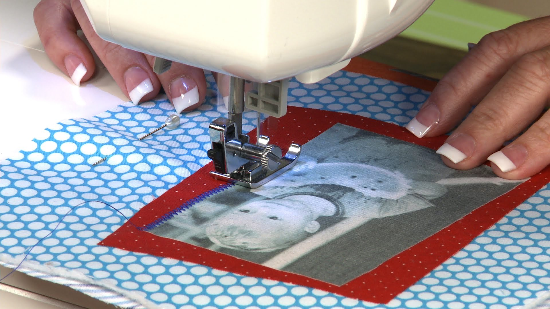Photo Transfer Wall Hanging  |  National Sewing Circle