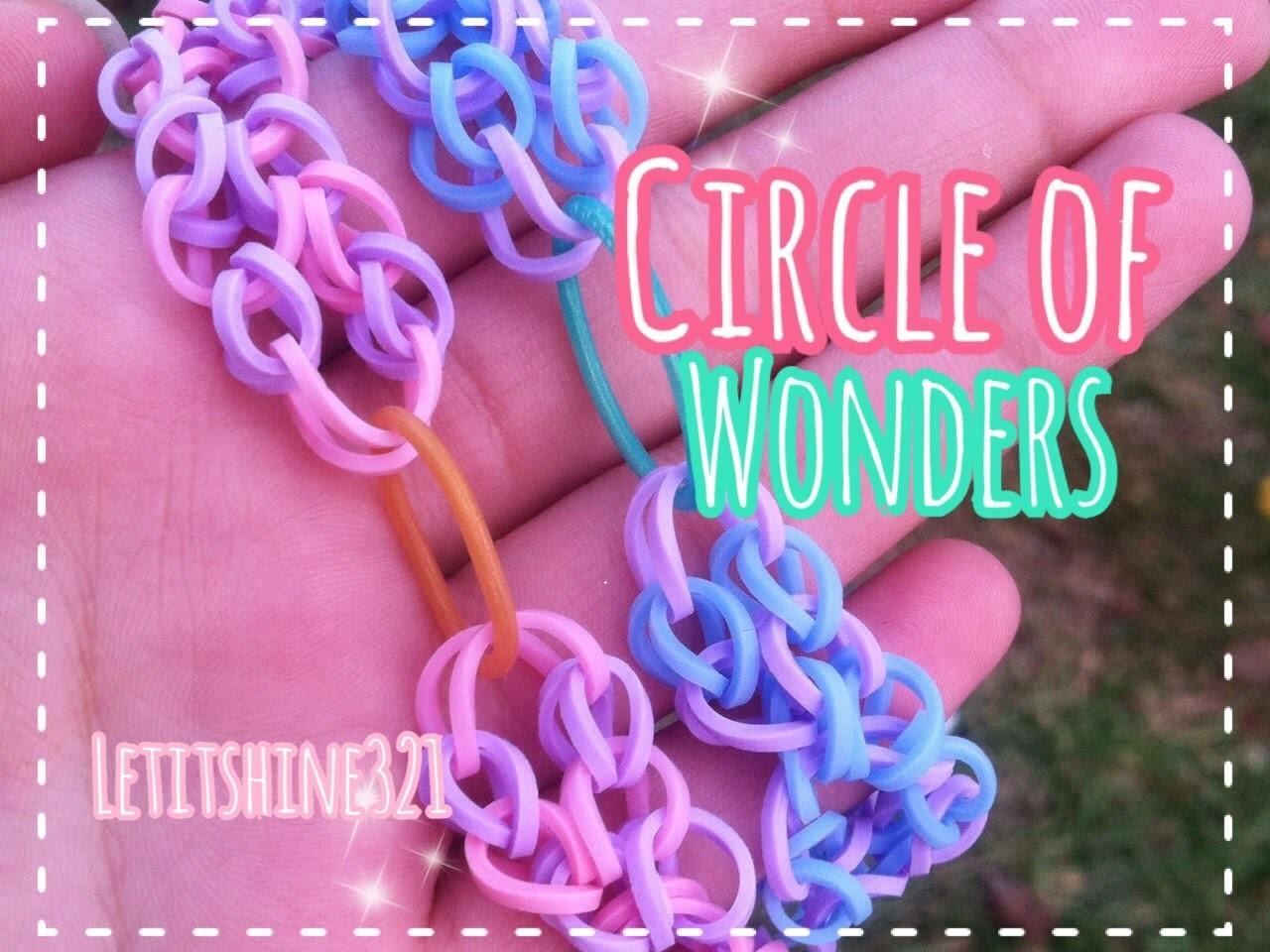 Rainbow loom | New Circle of Wonders bracelet | Hook Only
