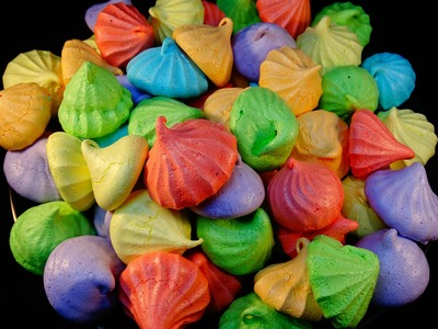 Rainbow  Meringue Cookies (fruit flavoured)-with yoyomax12