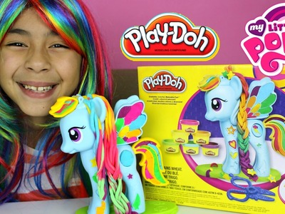 Tuesday Play Doh My Little Pony Rainbow Dash Style Salon |My Little Pony Play-Doh