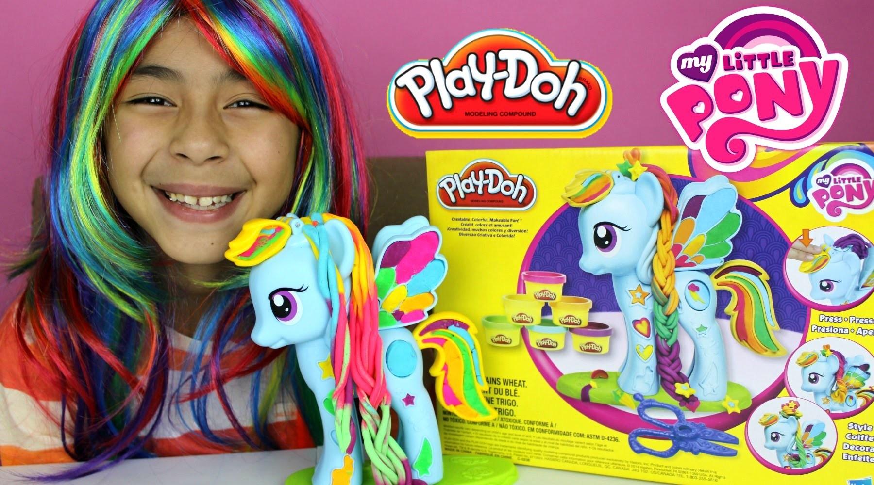 Tuesday Play Doh My Little Pony Rainbow Dash Style Salon |My Little Pony Play-Doh