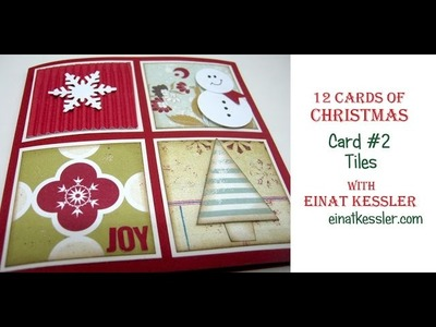 12 Cards of Christmas 2015 - Card #2 Tiles