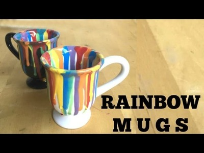 CERAMICS: How to Make a Rainbow Drip Mug