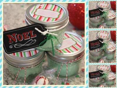 DIY 4-Ingredient Minty Christmas Body Scrub