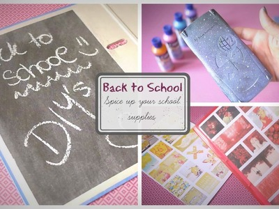 DIY ideas to spice up your school supplies ♥