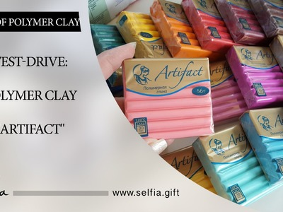 "Eng.text under the video! TEST-DRIVE: Polymer clay ""ARTIFACT"""