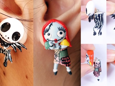 Halloween Special: Jack Skellington and Sally Earrings Tutorial Nightmare Before Christmas