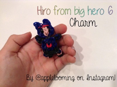 Hiro from Big Hero 6 charm on the Rainbow Loom