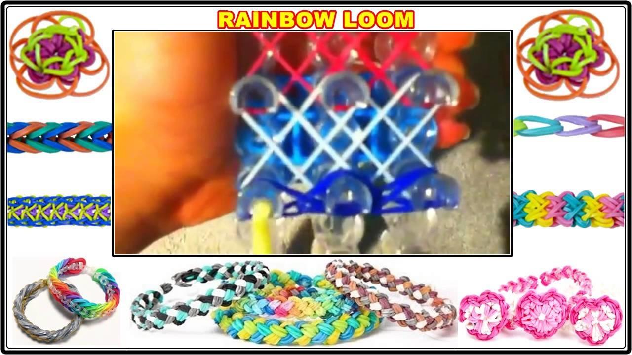 Starburst rainbow loom ring