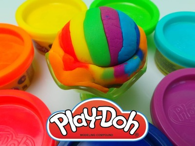 How To Make a Play-Doh  Rainbow Ice Cream Sundae